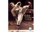 Bob Feller Autographed Photo Indians 16x20 #1105 2 Inscriptions
