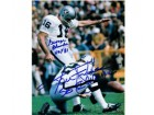 George Blanda and Ken Stabler Oakland Raiders 16x20 Autograph Photo #1111