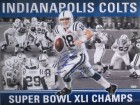 Peyton Manning Autographed Colts Super Bowl XLI 41 Signed 16x20 Photo Steiner Sports COA Photo