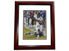 Qadry Ismail Signed - Autographed Baltimore Ravens 8x10 Photo with MISSILE Inscription MAHOGANY CUSTOM FRAME