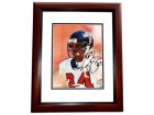 Ray Buchanan Signed - Autographed Atlanta Falcons 8x10 inch Photo MAHOGANY CUSTOM FRAME - Guaranteed to pass PSA or JSA