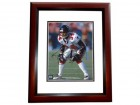 Ray Buchanon Signed - Autographed Atlanta Falcons 8x10 inch Photo MAHOGANY CUSTOM FRAME - Guaranteed to pass PSA or JSA