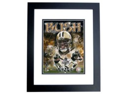Reggie Bush Unsigned New Orleans Saints 8x10 inch Photo BLACK CUSTOM FRAME