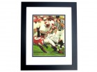 Ron Dayne Autographed Wisconsin Badgers 11x14 Photo BLACK CUSTOM FRAME - 1999 Heisman Trophy Winner