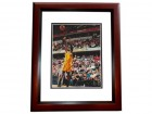 Roy Hibbert Signed - Autographed Indiana Pacers 8x10 Photo MAHOGANY CUSTOM FRAME