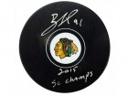Brad Richards Signed Chicago Blackhawks Logo Hockey Puck w/2015 SC Champs