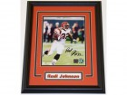 Rudi Johnson Signed - Autographed Cincinnati Bengals 8x10 inch Photo BLACK CUSTOM FRAME - Guaranteed to pass PSA or JSA