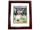 Rudi Johnson Signed - Autographed Cincinnati Bengals 8x10 inch Photo MAHOGANY CUSTOM FRAME - Guaranteed to pass PSA or JSA - White Jersey