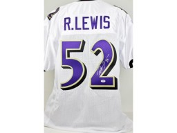 Ray Lewis Signed - Autographed Baltimore Ravens Custom Jersey with PSA/DNA