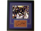 Ray Lewis Signed - Autographed Football Cut CUSTOM FRAME with Baltimore Ravens Super Bowl 47 XLVII 8x10 Photo