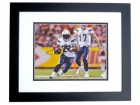 Ryan Matthews Signed - Autographed San Diego Chargers 8x10 inch Photo BLACK CUSTOM FRAME - Guaranteed to pass PSA or JSA
