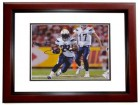 Ryan Matthews Signed - Autographed San Diego Chargers 8x10 inch Photo MAHOGANY CUSTOM FRAME - Guaranteed to pass PSA or JSA