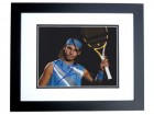 Rafael Nadal Signed - Autographed Tennis 8x10 inch Photo BLACK CUSTOM FRAME - Guaranteed to pass PSA or JSA