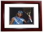 Rafael Nadal Signed - Autographed Tennis 8x10 inch Photo MAHOGANY CUSTOM FRAME - Guaranteed to pass PSA or JSA