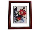 Rob Niedermayer Signed - Autographed Florida Panthers 8x10 Photo MAHOGANY CUSTOM FRAME