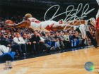 Dennis Rodman Signed Chicago Bulls Diving Action 8x10 Photo