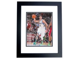 Ricky Rubio Signed - Autographed Minnesota Timberwolves 8x10 inch Photo BLACK CUSTOM FRAME - Guaranteed to pass PSA or JSA