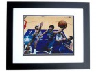 Ricky Rubio Autographed Minnesota Timberwolves 8x10 Photo BLACK CUSTOM FRAME