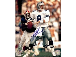 Troy Aikman Autographed Cowboys 8x10 Photo #2