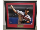 John Smoltz Autographed Braves 20x24 Framed Photo