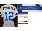 Roger Staubach Signed - Autographed Custom Jersey with JSA Certificate of Authenticity (COA) Sticker and PSA/DNA Certificate of Authenticity (COA) - Dallas Cowboys