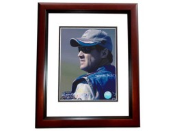 Rusty Wallace Unsigned 8x10 inch Racing Photo MAHOGANY CUSTOM FRAME