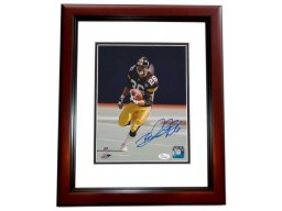 Rod Woodson Signed - Autographed Pittsburgh Steelers 8x10 inch Photo MAHOGANY CUSTOM FRAME with JSA Authenticity
