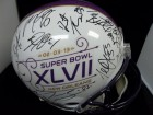 Baltimore Ravens (2012-13) Signed Riddell Replica 2013 Super Bowl New Orleans Full Size Helmet By the 2012-13 Super Bowl Champions Baltimore Ravens Team