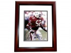 Ray Lewis Signed - Autographed Miami Hurricanes 8x10 inch Photo MAHOGANY CUSTOM FRAME - Guaranteed to pass PSA or JSA