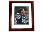 Raymond Berry Signed - Autographed Baltimore Colts 8x10 inch Photo MAHOGANY CUSTOM FRAME - Guaranteed to pass PSA or JSA - Hall of Famer