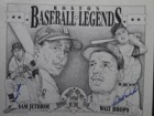 Boston Red Sox (1950) (Sam Jethroe / Walt Dropo) Signed 16x20 B&W Lithograph 1950 Rookies of the Year by Sam Jethroe & Walt Dropo