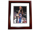 "Richard ""RIP"" Hamilton Signed - Autographed Detroit Pistons 8x10 inch Photo MAHOGANY CUSTOM FRAME - Guaranteed to pass PSA or JSA"