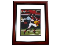 Roddy White Signed - Autographed Atlanta Falcons 8x10 inch Photo MAHOGANY CUSTOM FRAME - Guaranteed to pass PSA or JSA