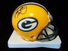 Aaron Rodgers (Green Bay Packers) Signed Riddell Replica Green Bay Packers Mini Helmet