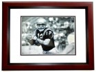 Roger Staubach Signed - Autographed Navy Midshipmen 8x10 inch Photo MAHOGANY CUSTOM FRAME - 1963 Heisman Trophy Winner - Guaranteed to pass PSA or JSA