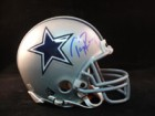 Tony Romo (Dallas Cowboys) Signed Dallas Cowboys Replica Mini Helmet