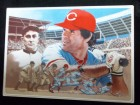 Pete Rose (Cincinnati Reds) Signed 5x7 Artist Proof 1985 Gartlan Ceramic Card. Also signed by the artist RH Gartlan