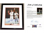 Pete Rose and Steve Garvey Signed - Autographed Cincinnatti Reds Hits Record 11x14 inch Photo - BLACK CUSTOM FRAME - PSA/DNA FULL Letter of Authenticity (COA)