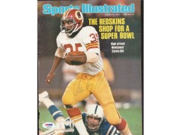Calvin Hill Autographed Magazine Cover Redskins PSA/DNA #S28538