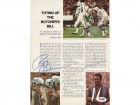 Roger Staubach, Joe Namath & James Harris Autographed Magazine Page Photo PSA/DNA #S43167
