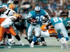 Barry Sanders Signed Lions Action 8x10 Photo vs Packers