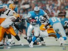 Barry Sanders Signed Lions Action 16x20 Photo vs Packers