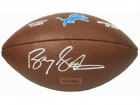 Barry Sanders Signed Detroit Lions Logo Wilson Football