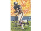"Gale Sayers Autographed Chicago Bears Goal Line Art Card in blue w/""HOF 77"""