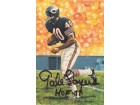 "Gale Sayers Autographed Chicago Bears Goal Line Art Card in black w/""HOF 77"""
