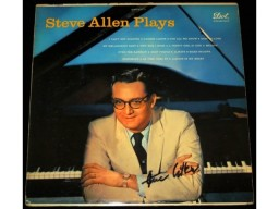 Steve Allen Plays Signed - Autographed LP Record Album Cover - Deceased 2000 - Guaranteed to pass PSA or JSA