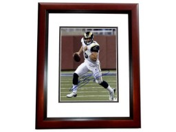 Sam Bradford Signed - Autographed St. Louis Rams 11x14 inch Photo - MAHOGANY CUSTOM FRAME - Guaranteed to pass PSA or JSA - Sports Memorabilia.com Certificate of Authenticity (COA)