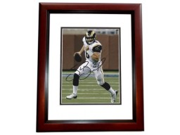 Sam Bradford Signed - Autographed St. Louis Rams 8x10 inch Photo MAHOGANY CUSTOM FRAME - Guaranteed to pass PSA or JSA - #1 Overall Draft Pick and Heisman Trophy Winner