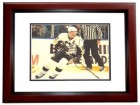 Sidney Crosby Signed - Autographed Pittsburgh Penguins 11x14 inch Photo MAHOGANY CUSTOM FRAME - Guaranteed to pass PSA or JSA