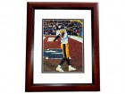 Santonio Holmes Signed - Autographed Pittsburgh Steelers 11x14 inch Photo MAHOGANY CUSTOM FRAME - Guaranteed to pass PSA or JSA - Super Bowl 43 MVP